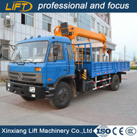 Small truck crane with cargo box 3.2tons