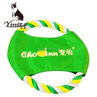 Yangzhou yingte high quality cotton rope frisbee pet outdoor toy