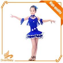 Haute qualité Costume de danse latine de la concurrence robe pour enfants de bal Tassel plume latine robe pour enfants