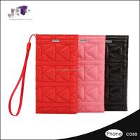 Qulit handcraft flip wallet leather case for lg