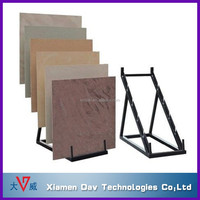 retail stores simple ceramics flooring tile display rack triangle structure step holders