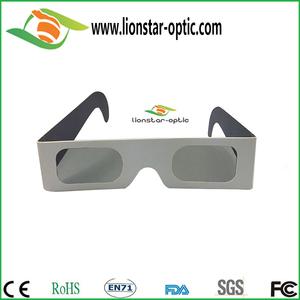 ورقة خطي نظارات مستقطبة السينما 3D
