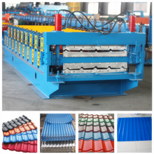 color steel glalvanized metal aluminum glazed trapezoidal tile sheet roof wall panel double layer roll forming machine