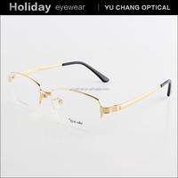 Brand designer fashion semi rimless air titanium eyeglass frames, china titanium frames for eyeglasses