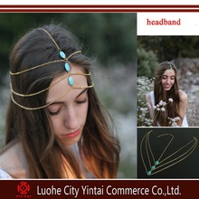Unique Style Hair With a Metal Chain Hair Accessories Tassel Sequined Tiara Hairpin Headband