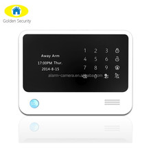 2015 newest WIFI GPRS auto switch wifi wireless wired gsm full touch home security alarm system with IP camera + RFID keypad