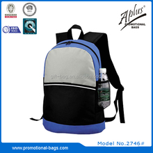 good design polyester custom laptop backpack with open pocket