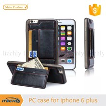 Itechly for iphone 6 plus case,TPU PC Leather Wallet Credit Card Holder Case for iPhone 6 Plus