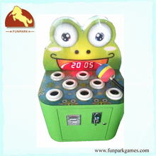 Good quality amusement machine Hit Frog kids arcade ticket coin operated game machine