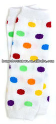 2014 baby leg warmers colorful dot pattern comfortable to baby skin
