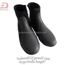 Black Neoprene Zip Diving Boots Kids