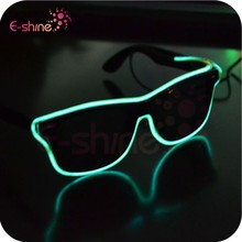 Halloween Decoration Wholesale EL Wire LED Light Sunglasses For Event Decoration