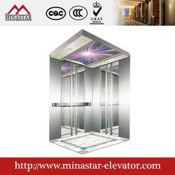 Building passenger elevator|complete elevator manufacturer|mirror Etched cabin elevator