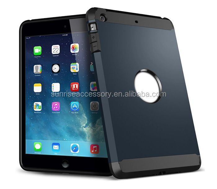 Double Color Hybrid Slim Cover For iPad 4 Cover
