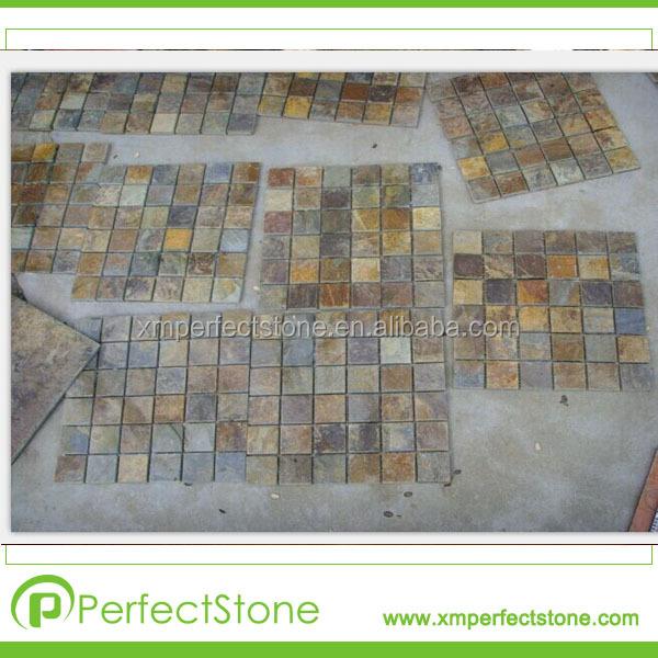 mosaico ardesia arrugginito prezzo piastrelle foto mosaico di ...