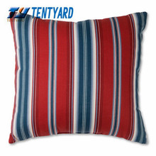 2015 hot sales red stripe printing cushion,mordern style pillow,square softs decorative you home pillow