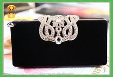 New Fashion Luxury Evening Flower diamond Clutch Woman wedding handbag
