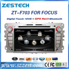 ZESTECH 7 inch 2 din touch screen wince car audio for ford focus 2