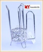 decorative standing steel glass holder glass rack glass set drinking cup holder drinking set tableware MYC-032