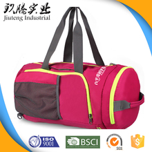 Nylon Polyester Sports Handbag Tote Waterproof Folding Travelling bag Of traveling bag Foldable travel bag