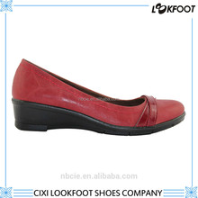 fast delivery factory oem high standard women dress leather sole shoes