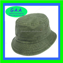 100% Cotton mens bucket hat in olive green