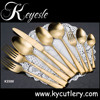cutlery set gold matte,cutlery set in gold mirror,royal gold finish flatware