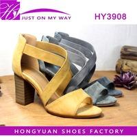 fashionable high heel shoes ladies, simple desgin elegant sandals