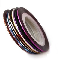 Color striping tape line for nail art with 34 colors