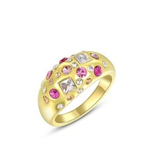 Fashion diverse hot sell alloy gold ring ,girl designs newest ring, gold fashion ring