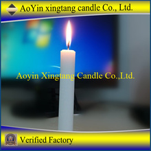 white pressed big size white candle 80g to 90g