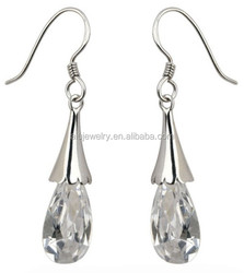 Good quality useful european diamond crown earring