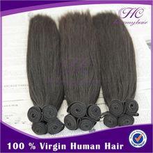 Popular and cheap 5a human virgin remy hair extenion