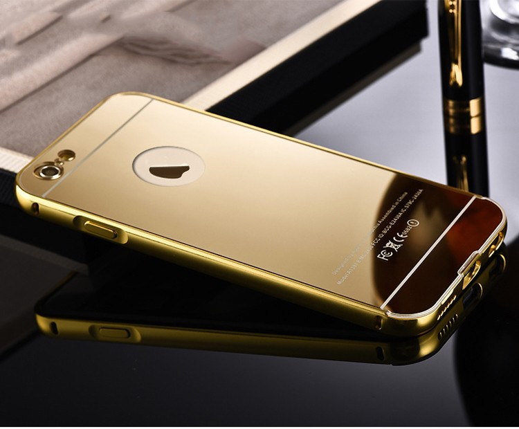 24k Gold Iphone Case: 24k Gold Case For Iphone 6 6 Plus,Gold Metal Mirror Case