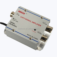 20dB INDOOR CATV AMPLIFIER with 2 outputs catv signal home amplifier