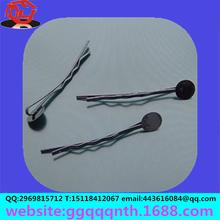 hair accessories round blank metal black Spray paint hair clip