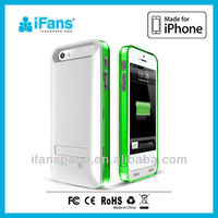 External Battery Case Skin 2400mAh backup battery for iPhone 5, For iPhone 5s Backup Battery Case Fully Protection