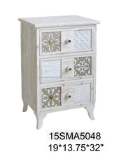 Popular in Canton Fair Fuzhou Antique white Timber or Wooden Cabinet nice living room glass funiture