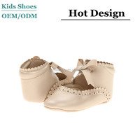 Wholesale custom soft touch baby doll shoes for girls high quality fancy baby girls shoes