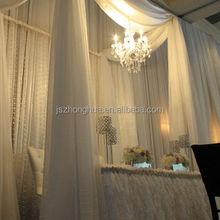 white 10 feet wide voile sheer wedding drapes ceiling drapes