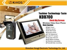 2015 new product waterproof wireless 7inch battery operated wireless video door phone with photo memory