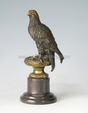 Beautiful eagle bronze sculpture