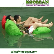 Polyester fabric water-repellent outdoor freestyle bean bag sofa chair can be floating in water and swimming pool