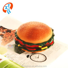 high quality hamburger squeak vinyl dog toys pet toys