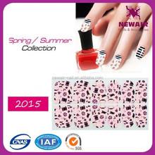 Real nail polish strips with various designs