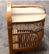 stylish pest free natrural ecological decorative bamboo bird cage