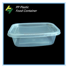 Microwavable take away plastic food packaging box