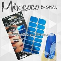 2015 new nail art sticker, new metallic nail art foil, toe nail stickers