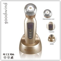 2016 new products lcd display sonophoresis ultrasonic sonic face scrubber
