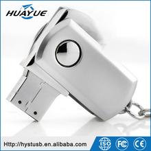 Portable Swivel Fatty Type 32GB 2.0 Metal USB Driver with Key Chain